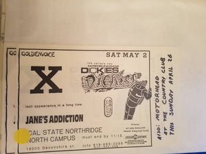 $10 PUNK FLYER X DICKIES JANES ADDICTION