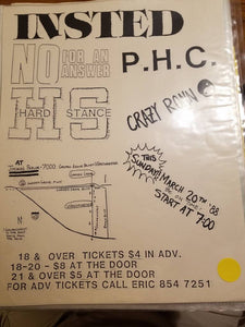 $10 PUNK FLYER - INSTED PHC NO FOR AN ANSWER HARD STANCE