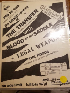 $10 PUNK FLYER - TRANSFER BLOOD ON THE SADDLE