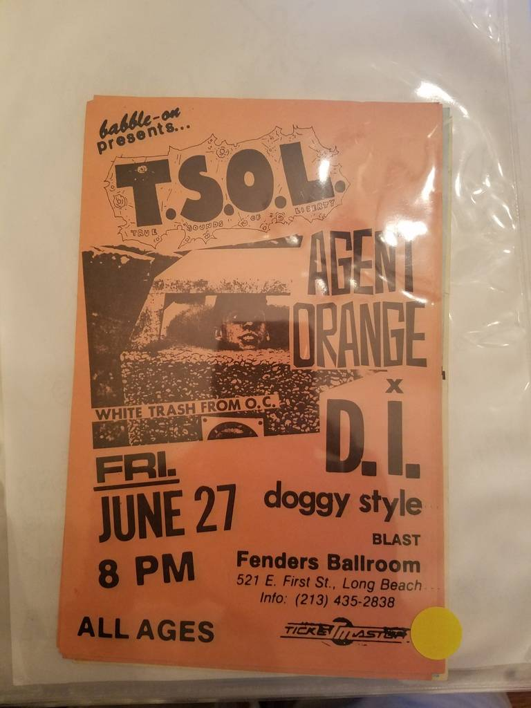 $10 PUNK FLYER - TSOL AGENT ORANGE DI