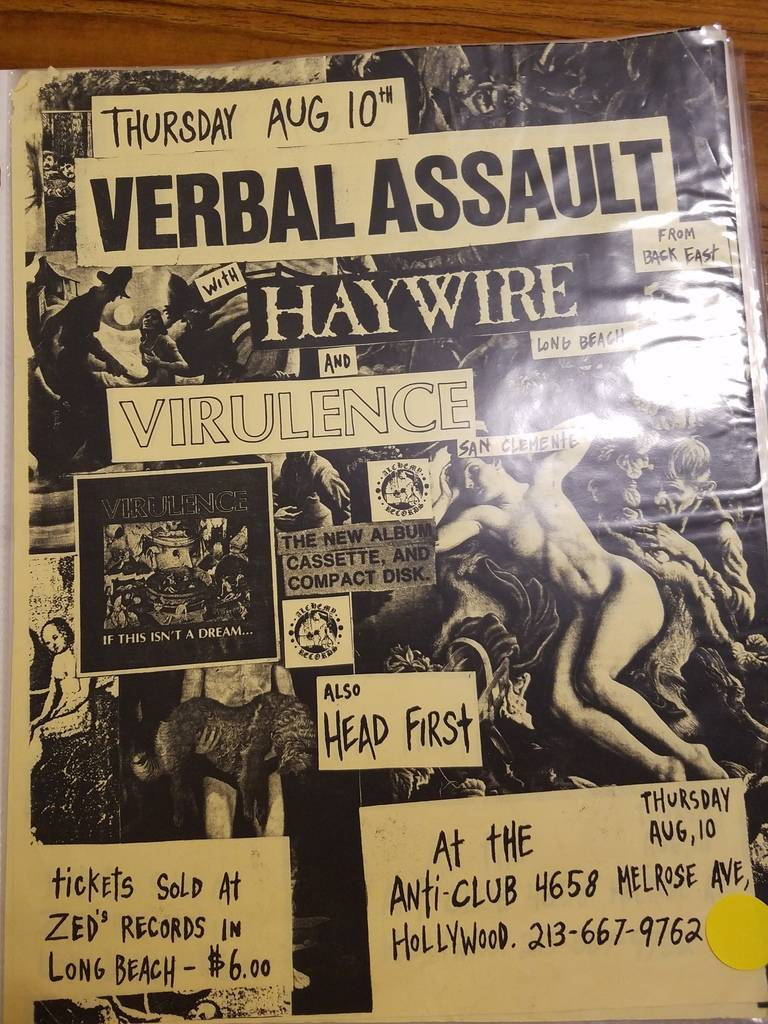 $10 PUNK FLYER - VERBAL ASSAULT