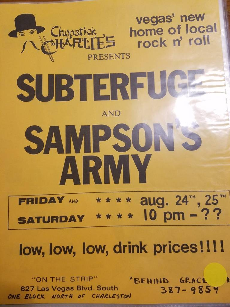 $10 PUNK FLYER - SUBERFUGE SAMPSON'S ARMY