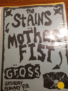 $10 PUNK FLYER - STAINS MOTHER FIST GROSS