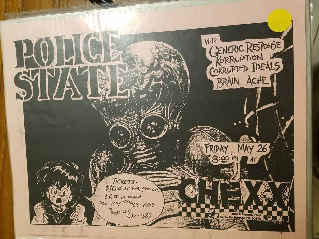 $10 PUNK FLYER - POLICE STATE CHEXX