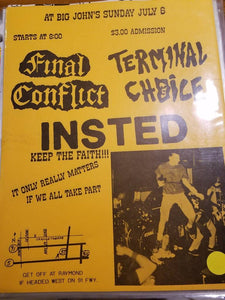 $10 PUNK FLYER - FINAL CONFLICT INSTED TERMINAL CHOICE