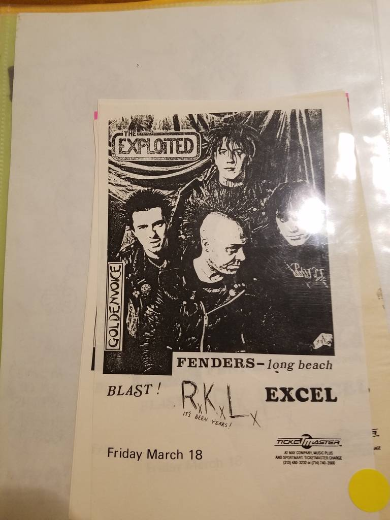 $10 PUNK FLYER - EXPLOITED RKL EXCEL