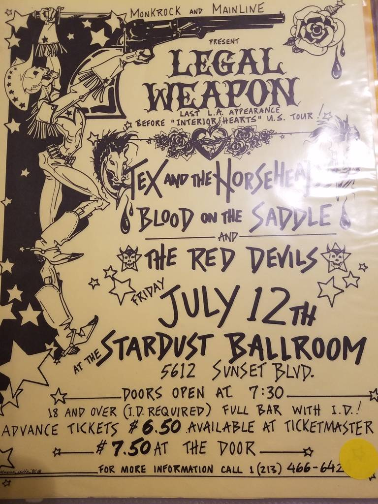 $10 PUNK FLYER - LEGAL WEAPON TEX AND THE HORSEHEADS