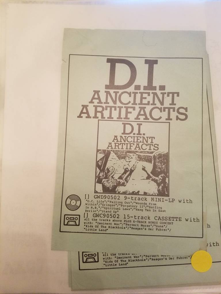 $10 PUNK FLYER - DI D.I. ANCIENT ARTIFACTS
