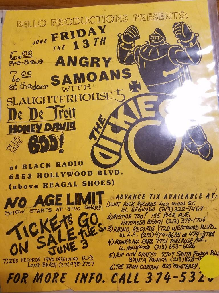$10 PUNK FLYER - DICKIES ANGRY SAMOANS