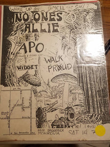 $10 PUNK FLYER - NO ONES ALLIE