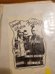 $10 PUNK FLYER - UPRIGHT CITIZENS ASEXUALS