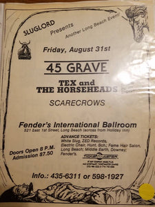 $10 PUNK FLYER - 45 GRAVE TEX AND THE HORSEHEADS