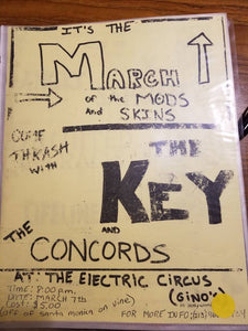 $10 PUNK FLYER - KEY CONCORDS