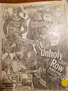 $10 PUNK FLYER - UNHOLY ROW