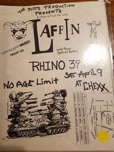 $10 PUNK FLYER - RHINO 39 LAFFIN