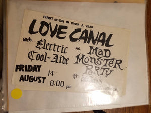 $10 PUNK FLYER - LOVE CANAL MAD MONSTER PARTY