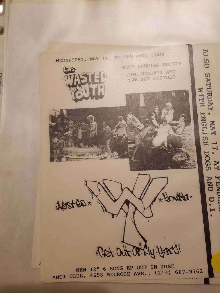$10 PUNK FLYER - WASTED YOUTH