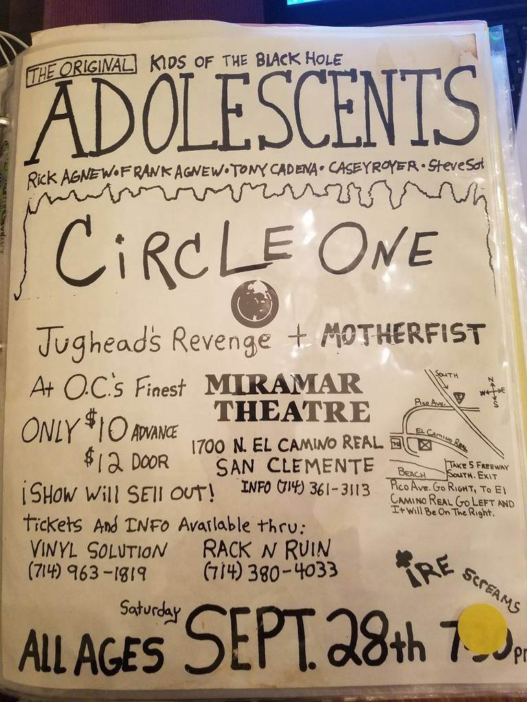 $10 PUNK FLYER - ADOLESCENTS CIRCLE ONE