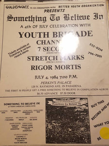 $10 PUNK FLYER - YOUTH BRIGADE CHANNEL 3 7 seconds