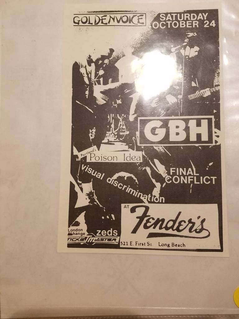 $10 PUNK FLYER - GBH POISON IDEA FINAL CONFLICT