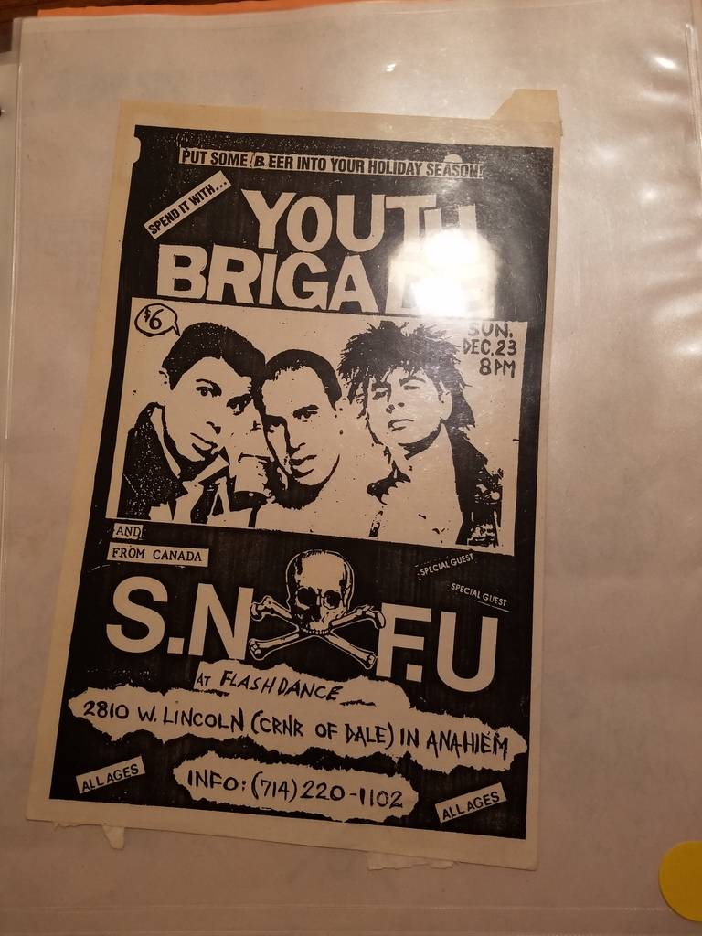$10 PUNK FLYER - YOUTH BRIGADE S.N.F.U.