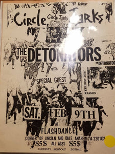 $10 PUNK FLYER - CIRCLE JERKS DETONATORS