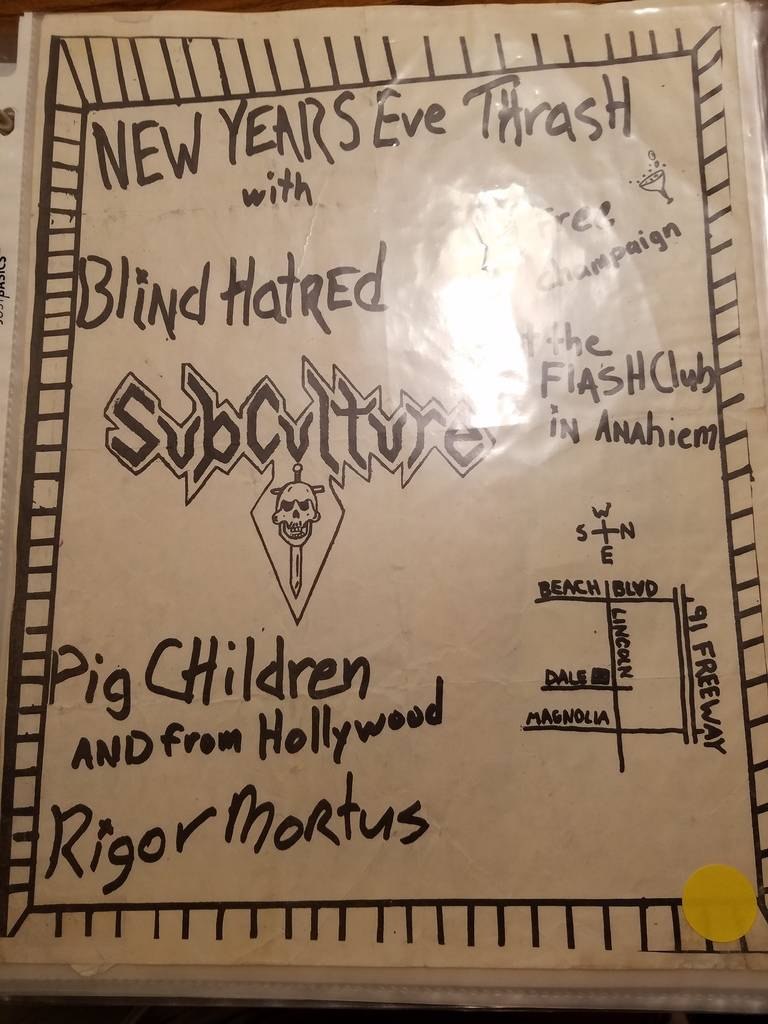 $10 PUNK FLYER - BLIND HATRED SUBCULTURE