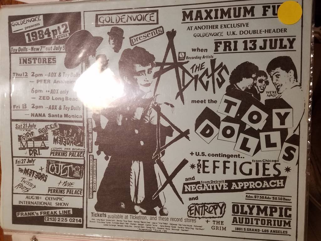 $10 PUNK FLYER - ADICTS TOY DOLLS NEGATIVE APPROACH