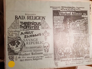 $10 PUNK FLYER - BAD RELIGION ANGRY SAMOANS