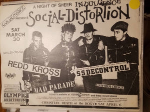 $10 PUNK FLYER - SOCIAL DISTORTION REDD KROSS SS DECONTROL