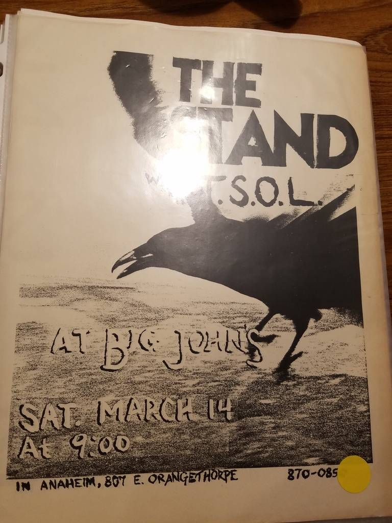 $10 PUNK FLYER - THE STAND TSOL