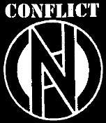 CONFLICT LOGO back patch