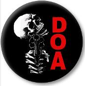 "DOA - SKULL 1.5""button"