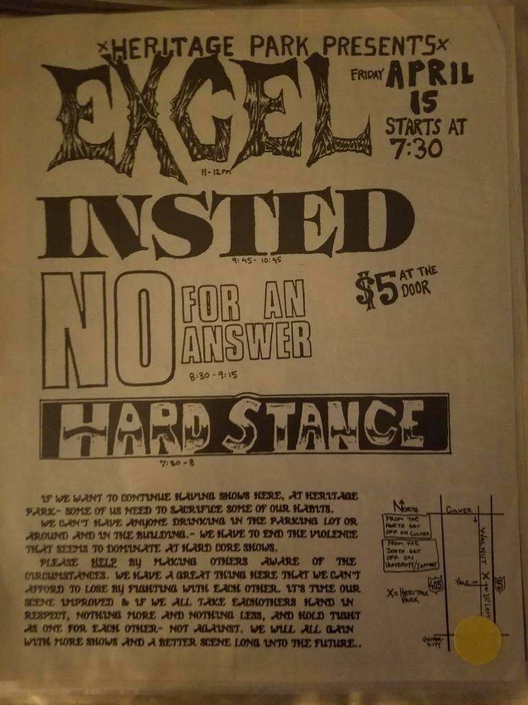 $15 PUNK FLYER EXCEL INSTED NO FOR AN ANSWER