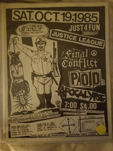 $15 PUNK FLYER JUSTICE LEAGUE FINAL CONFLICT