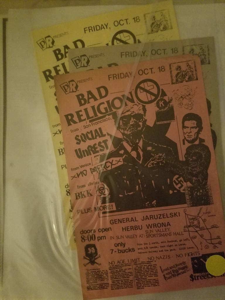 $15 PUNK FLYER BAD RELIGION SOCIAL UNREST