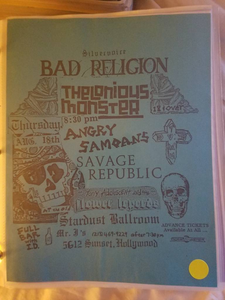 $15 PUNK FLYER BAD RELIGION THELONIOUS MONSTER ANGRY SAMOANS