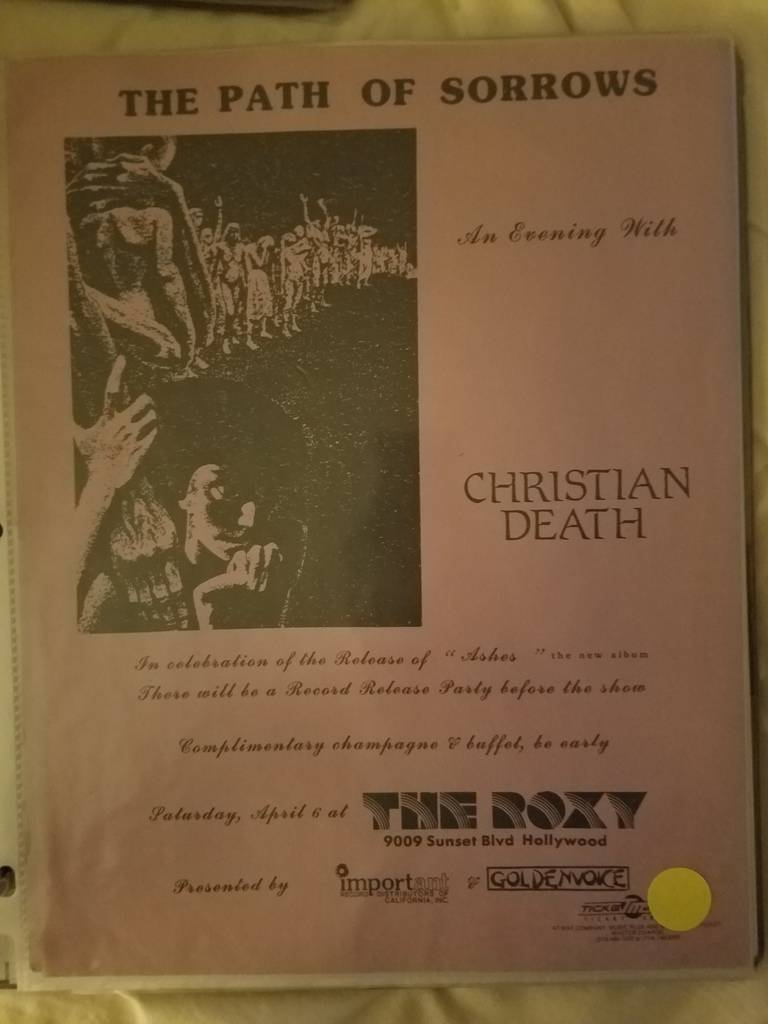 $15 PUNK FLYER CHRISTIAN DEATH