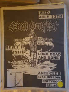$15 PUNK FLYER FINAL CONFLICT HALF OFF