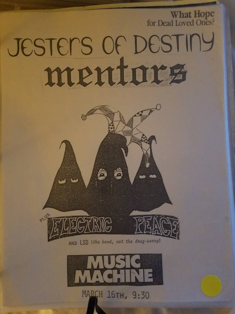 $15 PUNK FLYER JESTERS OF DESTINY MENTORS
