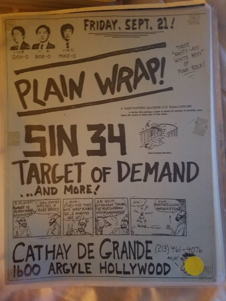 $15 PUNK FLYER PLAIN WRAP SIN 34 TARGET OF DEMAND