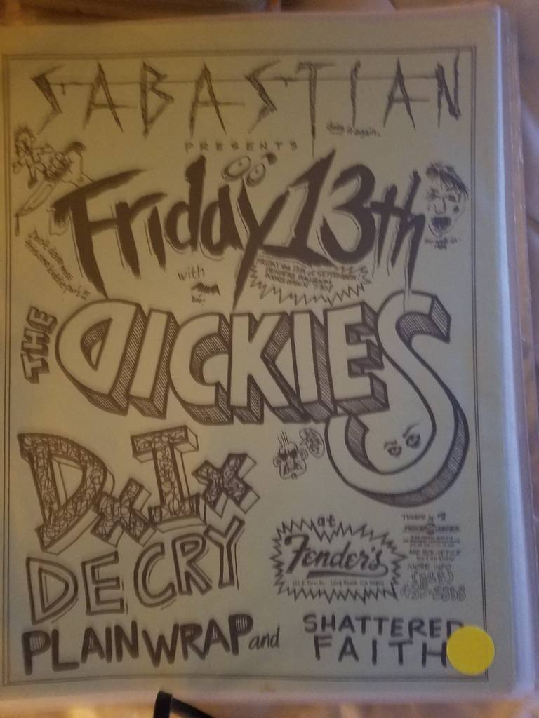 $15 PUNK FLYER THE DICKIES DI DECRY