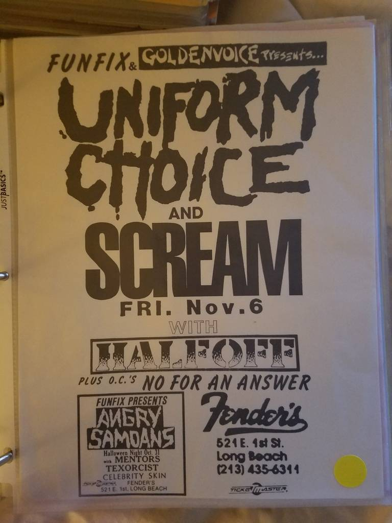 $15 PUNK FLYER UNIFORM CHOICE SCREAM