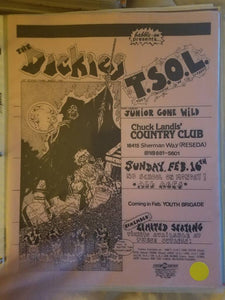$15 PUNK FLYER THE DICKIES TSOL