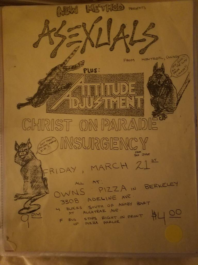 $15 PUNK FLYER ASEXUALS ATTITUDE ADJUSTMENT CHRIST ON PARADE