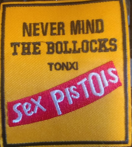 Sex Pistols - Nevermind the bullocks  EMBROIDERED PATCH