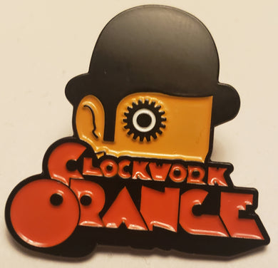 CLOCKWORK ORANGE ENAMEL BADGE