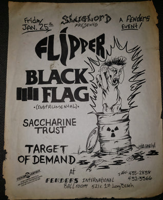 $30 PUNK FLYER - BLACK FLAG (11x14)