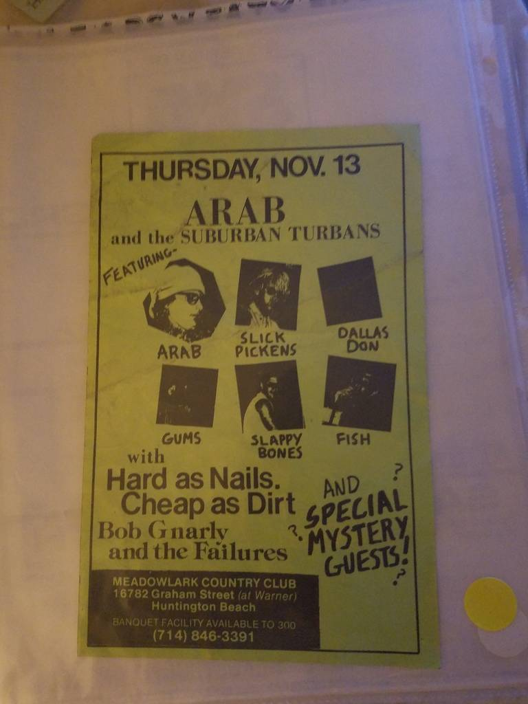 $5 PUNK FLYER - ARAB AND THE SUBURBAN TURBANS