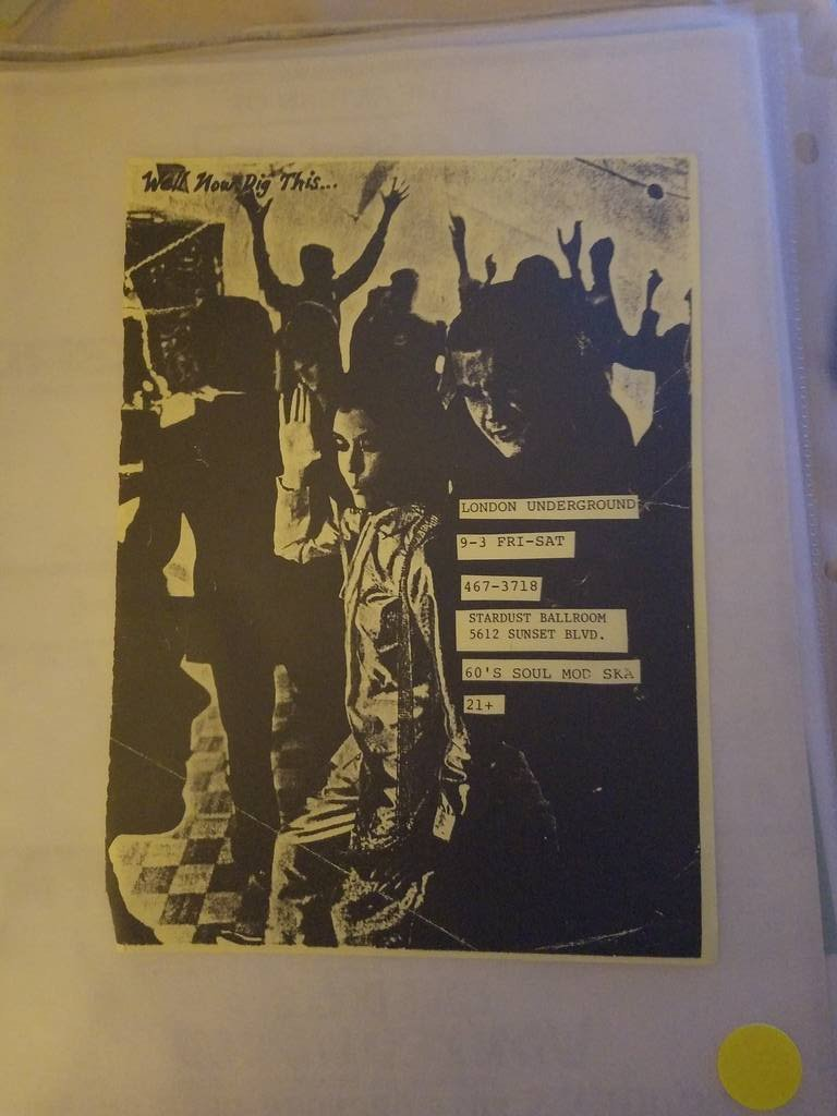 $5 PUNK FLYER - LONDON UNDERGROUND